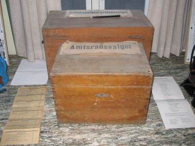 Gantrup forsamlingshus har tit været rammen om offentlige valghandlinger