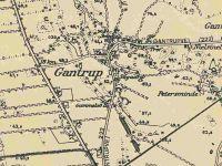 Kort over Gantrup - ca. 1956