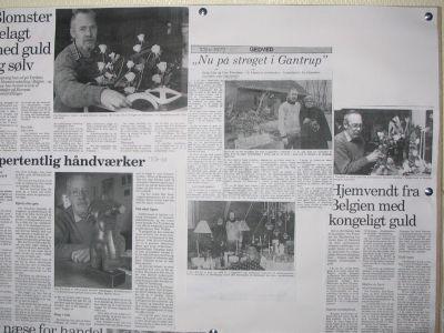 Avisartikler om Gantrups multikunstner Ove Frandsen